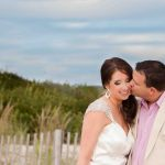 Groom kissing bride - New Jersey Wedding Photographer - Yana Shellman Photography