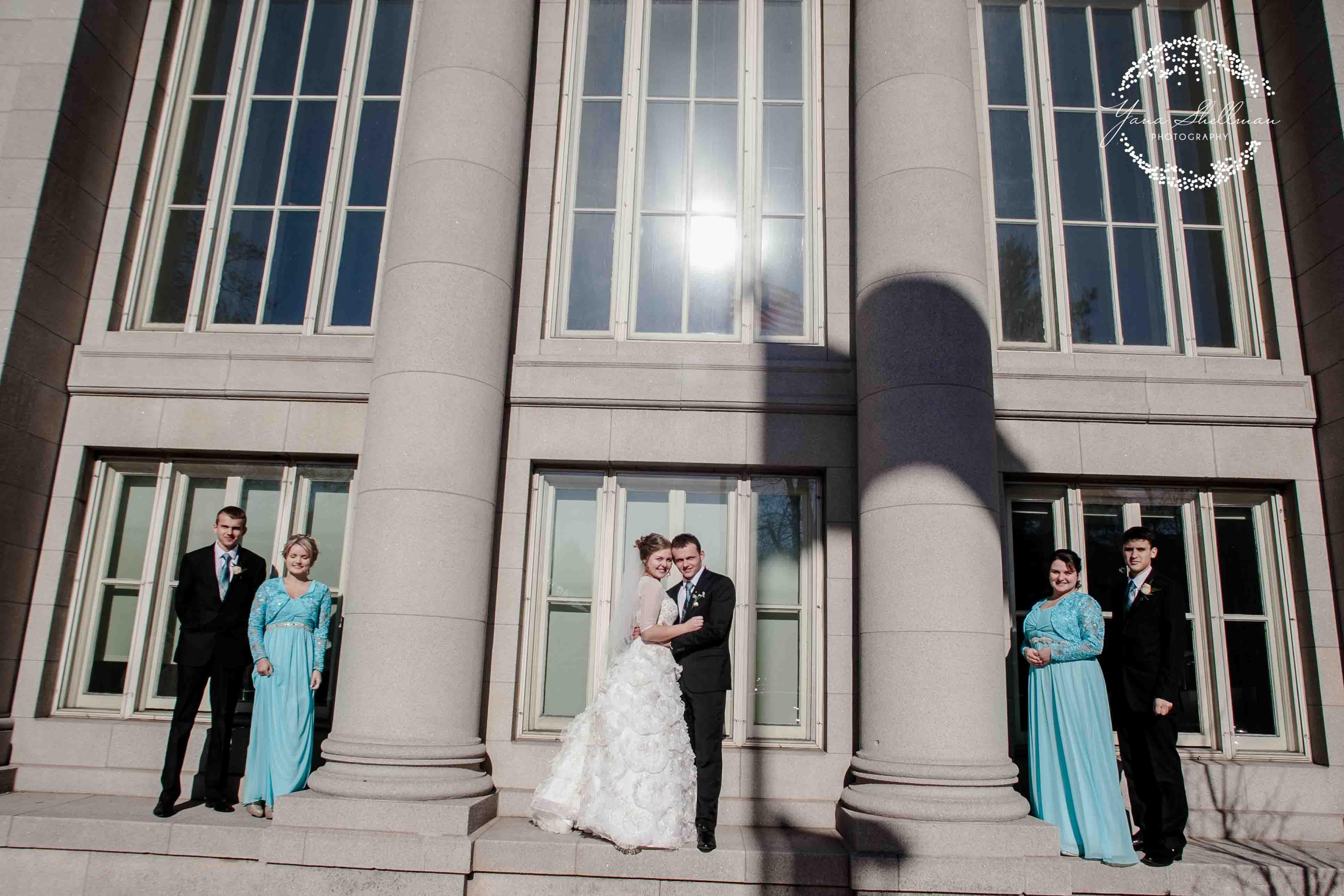 Philadelphia wedding - bride and groom in the winter wonderland- NJ+Philadelphia Wedding Photographer - Yana Shellman Photography