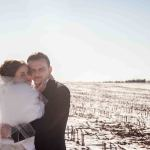 Philadelphia wedding - bride and groom in the winter wonderland- NJ+Philadelphia Wedding Photographer - Yana Shellman Photography
