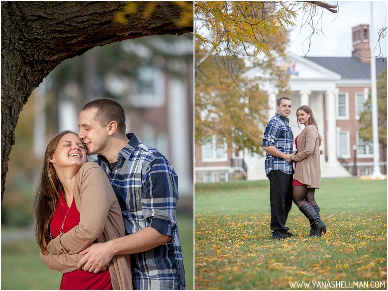 Rowan University Engagement Photo Session by South Jersey Wedding Photographer