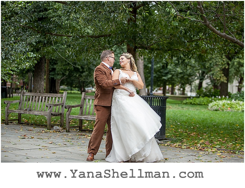 bride and groom portraits at Talula's Garden wedding by Philadelphia wedding photographer