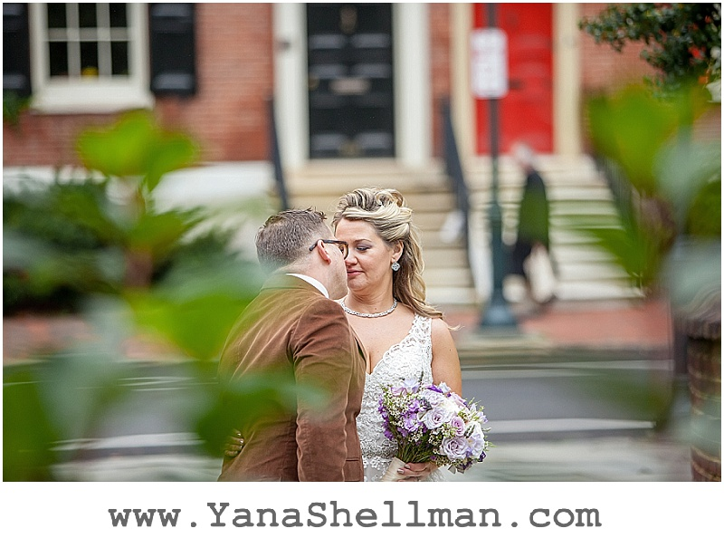 bride and groom at Talula's Garden wedding by Philadelphia wedding photographer