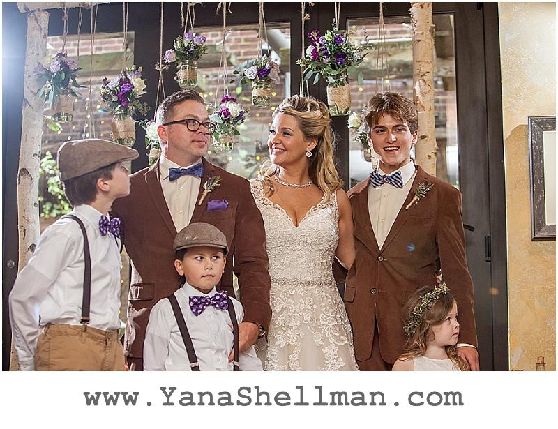 wedding ceremony at Talula's Garden wedding by Philadelphia wedding photographer