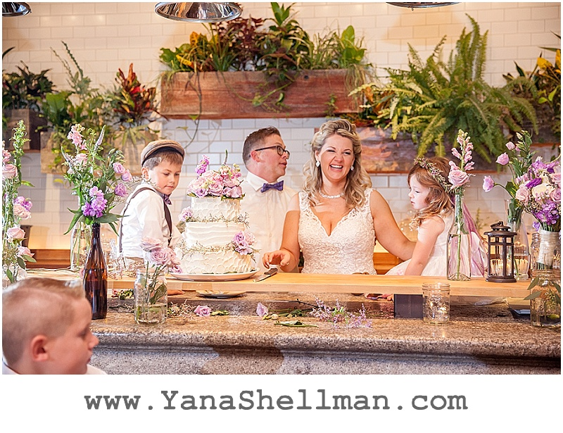 fun wedding at Talula's Garden wedding by Philadelphia wedding photographer